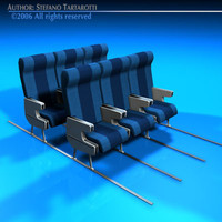 3ds seats commercial plane train