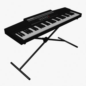 keyboard organ 3d model