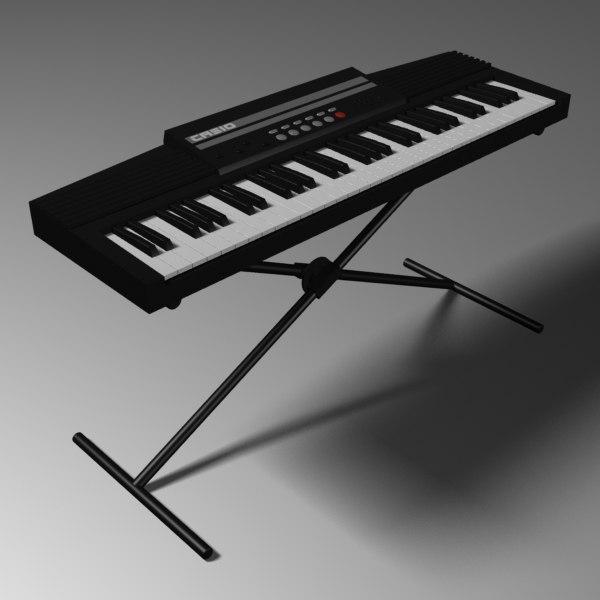 keyboard organ 3d model