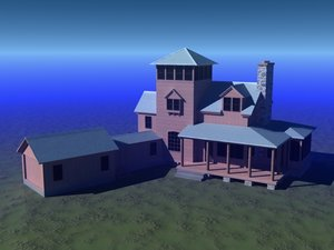 wood house 3ds