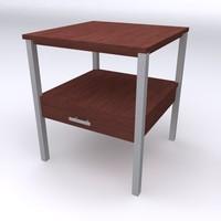3d paul mccobb end table