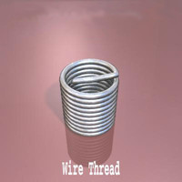 wire thread 3d max
