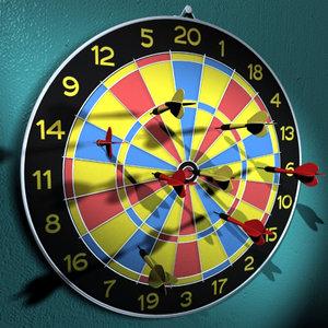 3d dart arrows target