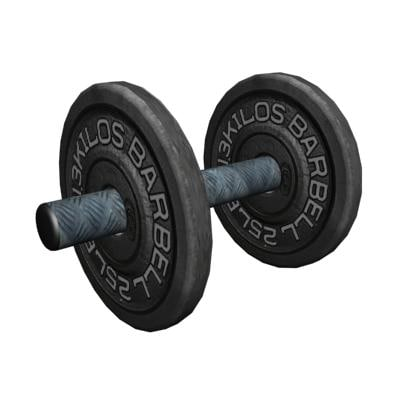 bell barbell 3d max