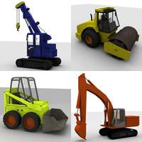 4 cranes industrial 3d x