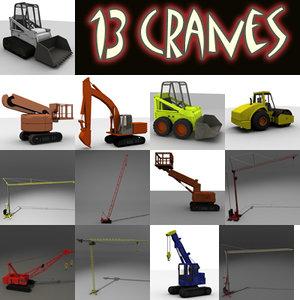 crane industrial machine 3ds