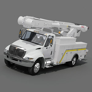 3d utility bucket truck