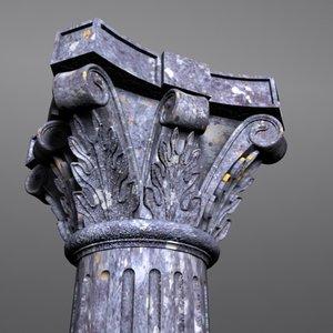 3d fluted column model