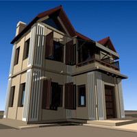 3dsmax house residance build