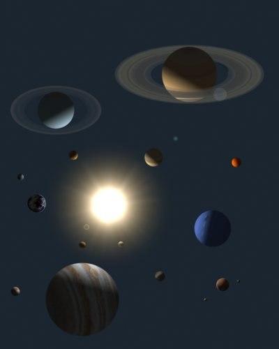 3d solar sun earth
