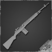 m14 rifle m1a 3d model