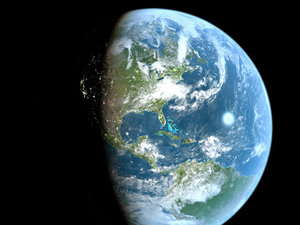 real-scale photoreal earth 3d model