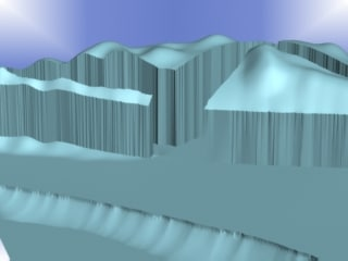 mountain valley 3d max