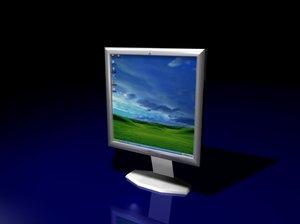 free lcd screen 3d model