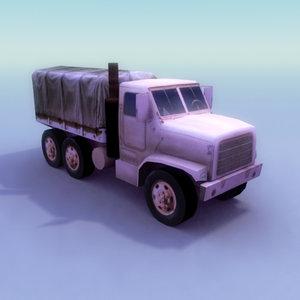 3d model mtvr-7 7 truck transport