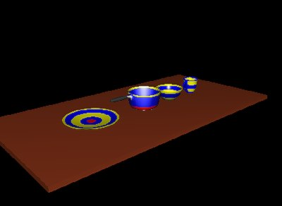 3d bullseye pottery set bowl model