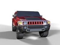 Hummer H3 2007 low poly