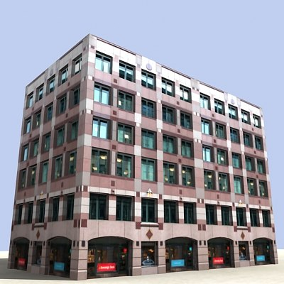 3ds max street building