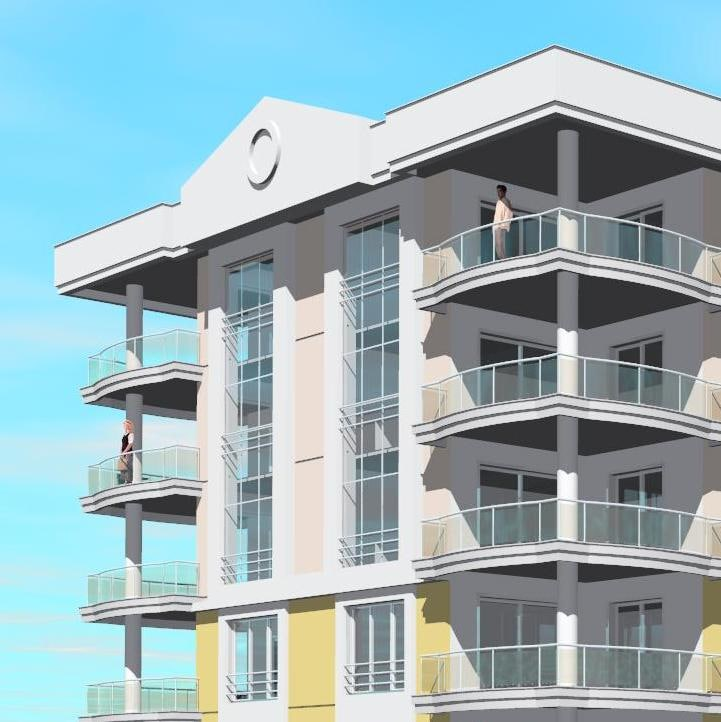 3d site apartment building house