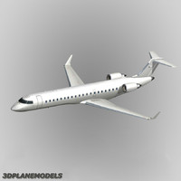 Bombardier CRJ-700 Generic white