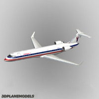 bombardier crj-700 american eagle 3d model