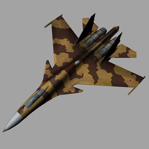 su-37 fighter 3d model