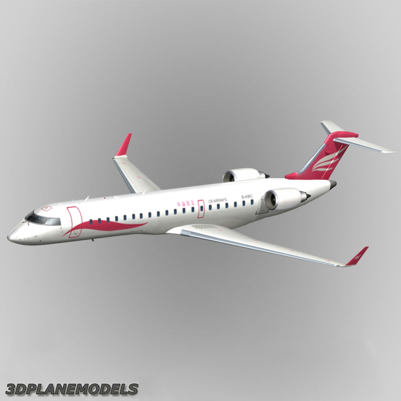 bombardier crj-700 cr airways 3d max