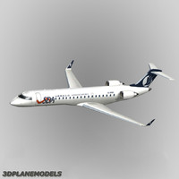 3d model bombardier crj-700 shandong airlines