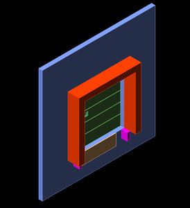 free dwg model standard dock door