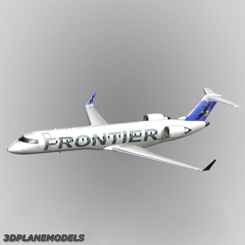 bombardier crj-700 frontier 3d obj