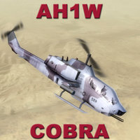 3d gunship helicopter cobras model
