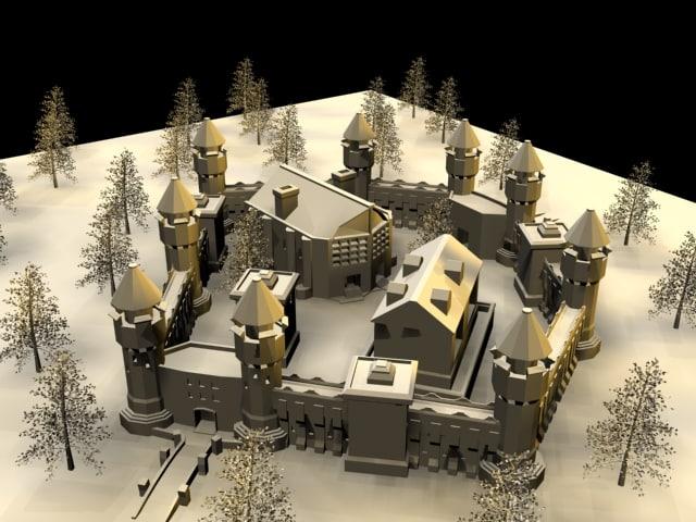 castle segments 3d max