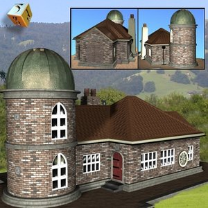 3d model lodge building