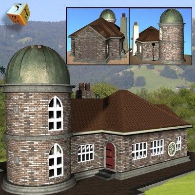 3d model lodge building