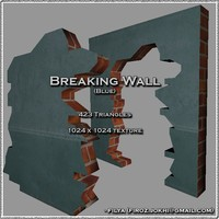 Broken wall - blue ( Urban model )