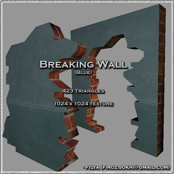 3ds max breaking wall urban pack