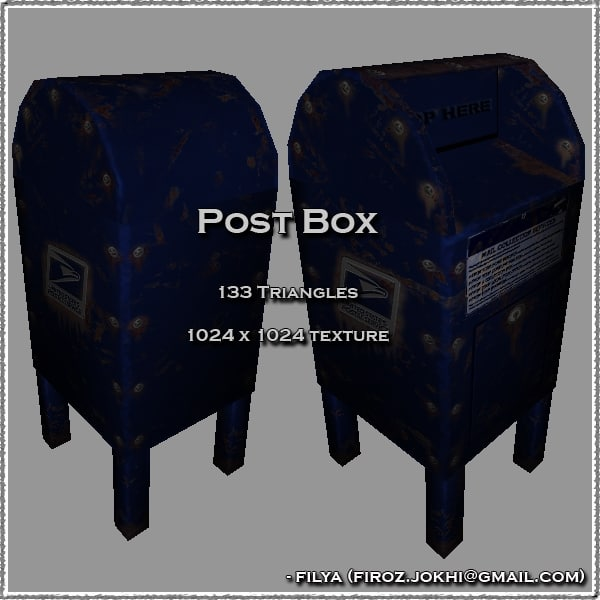 3ds max post box urban pack