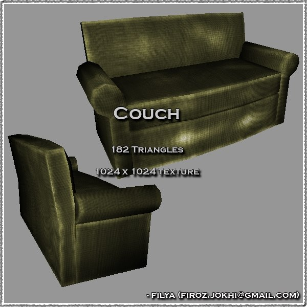 3ds max couch urban pack