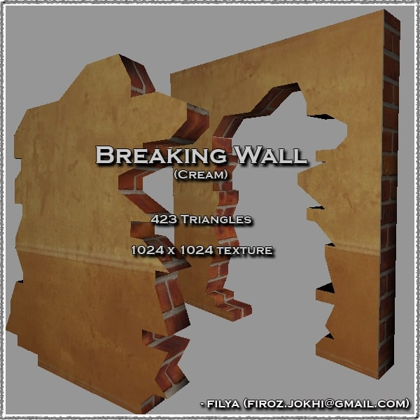3d broken wall urban pack