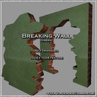 Broken wall - green ( Urban model )