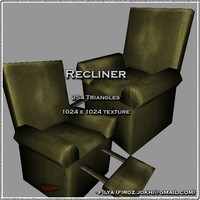 recliner urban pack 3d 3ds