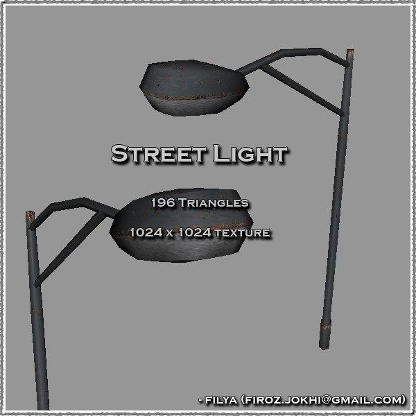 street light urban pack 3ds
