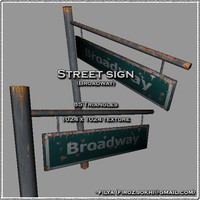 Street sign - Broadway ( Urban model )