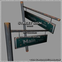 Street sign - Main ( Urban model )