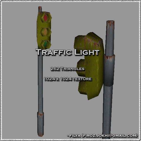 3ds traffic lights urban pack