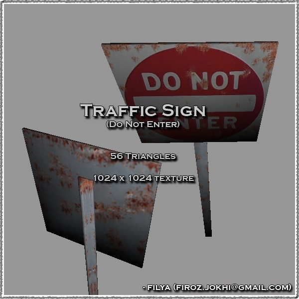 3ds enter traffic sign urban pack
