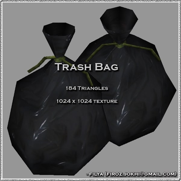 trash bag urban 3d model