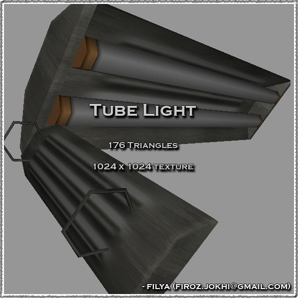 tube light urban 3d model