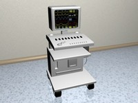 3d model monitor equipment
