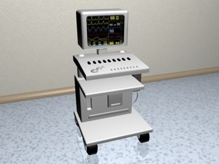 3d model monitor equipment